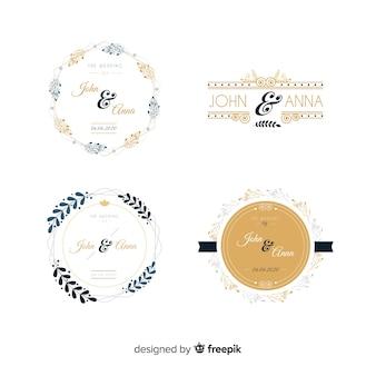 Pakiet ślubnych logo monogramów