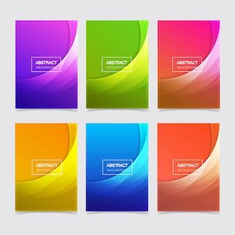 Pakiet streszczenie szablon tło geometryczne gradientu