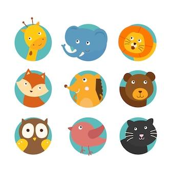 Pakiet Super Cute Animals Premium Wektorów