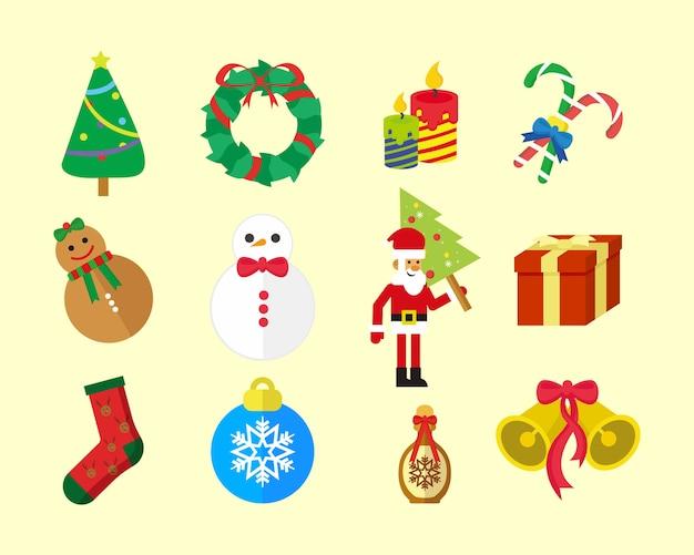 Pakiet świątecznych ikon zabawy
