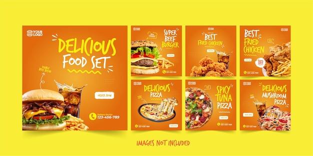 Pakiet szablonów instagram pyszne jedzenie