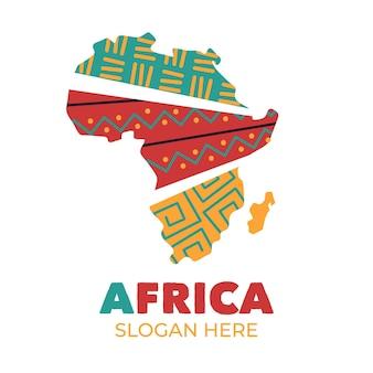 Pakiet szablonów logo afryki