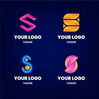 Pakiet szablonów logo gradientu s
