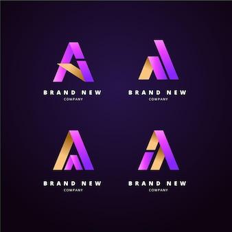 Pakiet szablonów logo gradientu