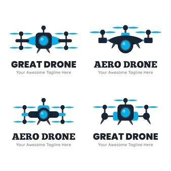 Pakiet szablonów logo kreatywnego drona