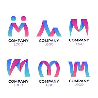 Pakiet szablonów logo m.