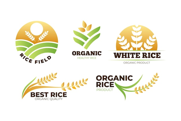 Pakiet szablonów logo ryżu