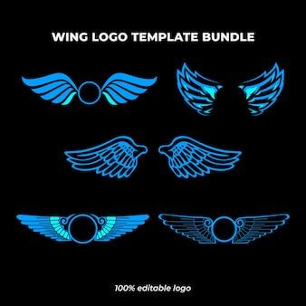 Pakiet szablonów logo skrzydła