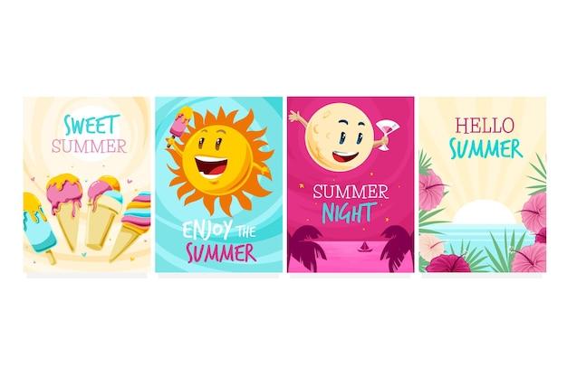 Pakiet szablonu letnich kart