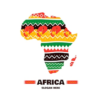 Pakiet szablonu logo afryki