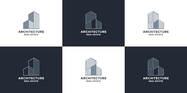 Pakiet szablonu projektu logo architektury nieruchomości