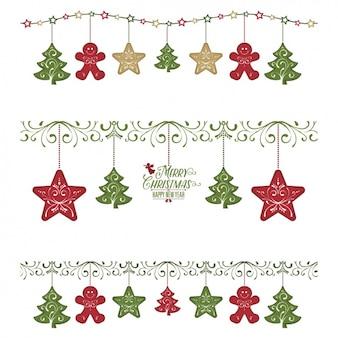 Pakiet trzech girlandami z christmas elementów