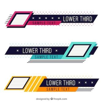 Pakiet twórczej kolorowej niższej części trzeciej