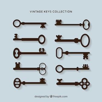 Pakiet wektor sylwetki klucze