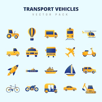 Pakiet wektorowy pojazdów transportowych