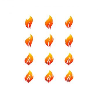Pakiet z logo ognia
