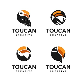 Pakiet z logo tukana