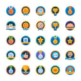 Pakiet zaokrąglonych ikon