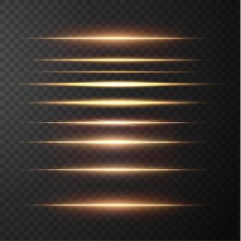 Pakiet złotych flar poziomych