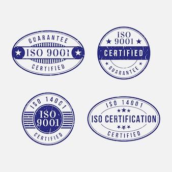 Pakiet znaczków certyfikacji iso