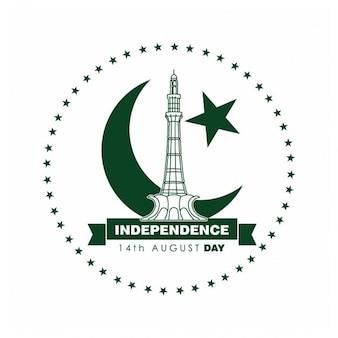 Pakistan dzień label