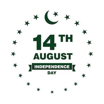 Pakistan dzień niepodległości label
