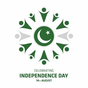 Pakistan dzień niepodległości wzór tła