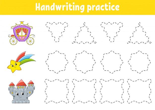 Pakt pisma ręcznego. arkusz rozwijający edukację. strona aktywności.