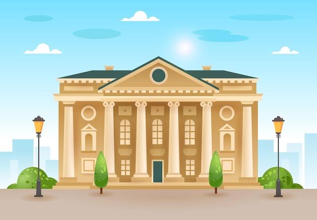 Pałac, gmach teatru, parlament lub muzeum