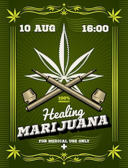 Palacz marihuany chwastów narkotyków ostrzeżenie tło wektor