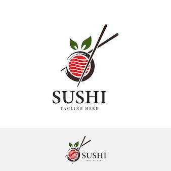 Pałeczki swoosh miska orientalna kuchnia japońska japońska sushi owoce morza ilustracja wektorowa