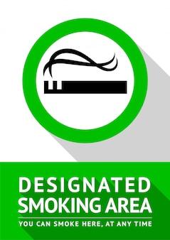 Palenie miejsce nowy plakat, ilustracja do druku