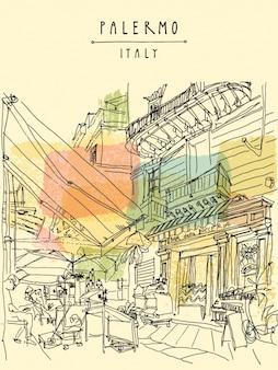 Palermo wzór tła