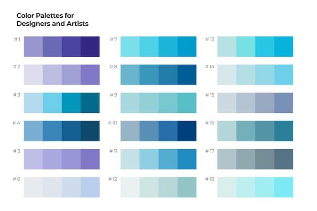 Paleta kolorów dla projektantów i artystów