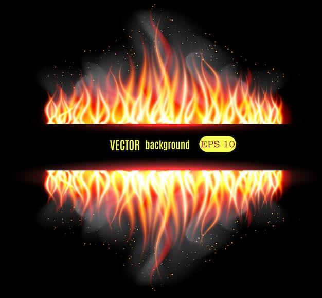 Palić płomień ognia w tle