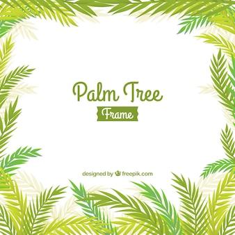 Palm liści ramki tła