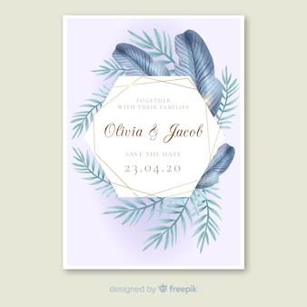 Palma pozostawia szablon zaproszenia ślubne