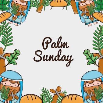 Palmowej niedziela religii katolicki tradycyjny tło