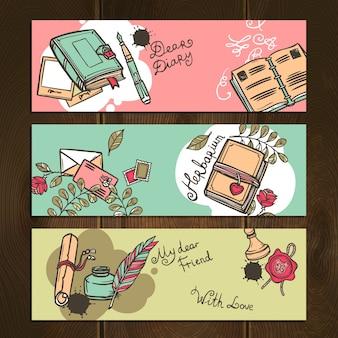 Pamiętnik vintage banery