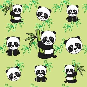Panda dla dzieci z bambusa bez szwu