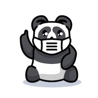 Panda i maska