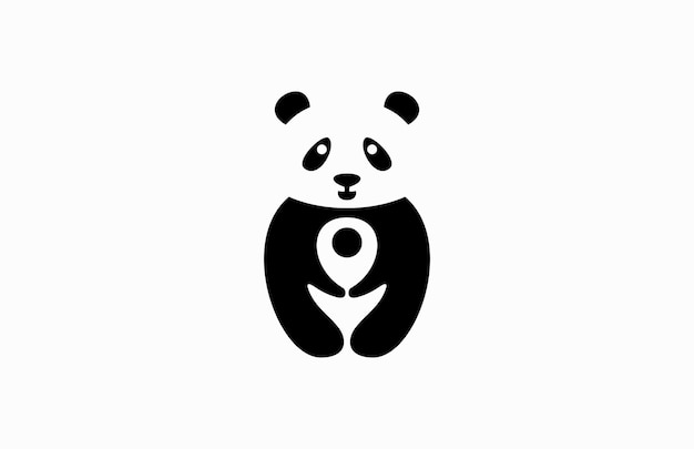 Panda pin lokalizacja logo podróży
