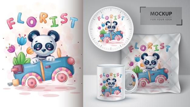 Panda podróżna - plakat i merchandising