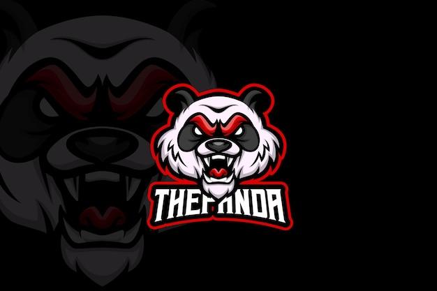 Panda — szablon logo e-sportu