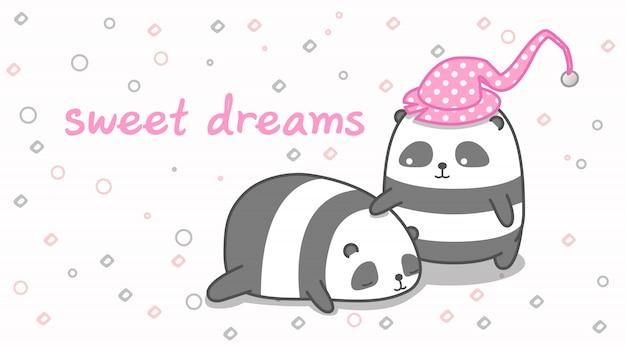 Panda usypia swojego przyjaciela.