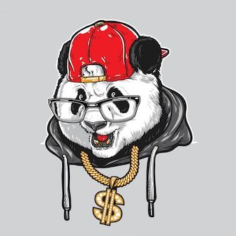 Panda w stylu hiphopowym