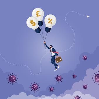 Pandemia covid wpływa na biznes z pomocą bankowości