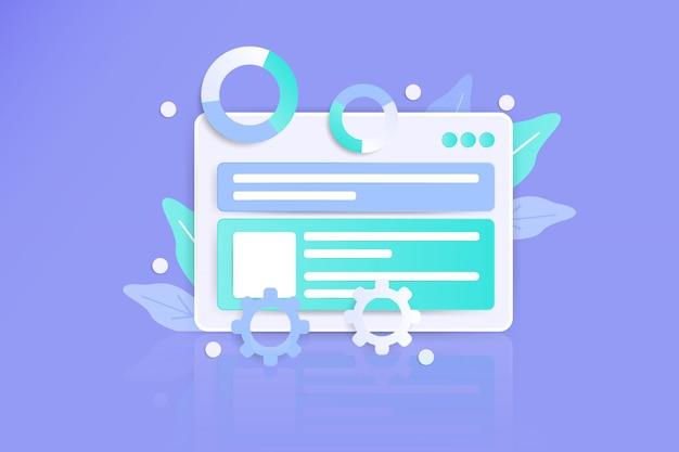 Panel deski rozdzielczej do projektowania interfejsu użytkownika ux