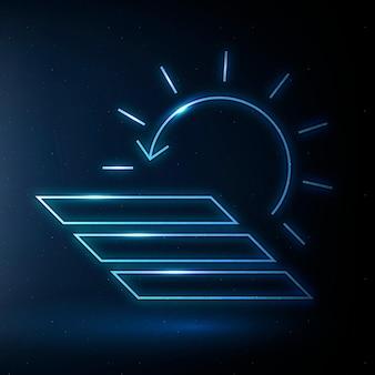 Panel słoneczny ikona wektor symbol energii odnawialnej
