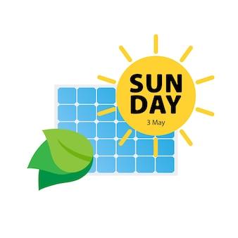 Panel słoneczny szczęśliwy słoneczny dzień sun